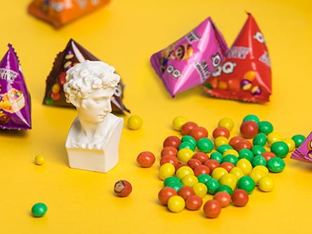 彩色巧克力豆